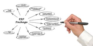 Belangrijke ERP Functies royalty-vrije stock afbeelding