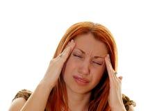 Belangrijke hoofdpijn Stock Fotografie