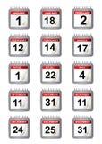 Belangrijke kalenderdagen Stock Afbeelding