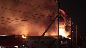 Belangrijke serrebrand stock footage