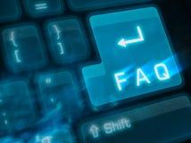 Belangrijke sleutel - FAQ royalty-vrije stock afbeelding