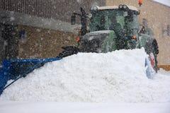 Belangrijke sneeuwstorm in Quebec Stock Foto