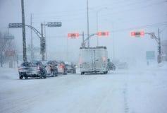 Belangrijke sneeuwstorm in Quebec Royalty-vrije Stock Foto's