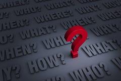 Belangrijke Te stellen Vragen vector illustratie