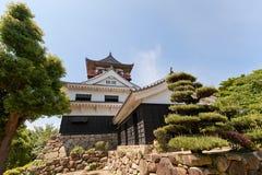 Belangrijkst houd (donjon) van Kawanoe-kasteel, Shikokuchuo, Japan Royalty-vrije Stock Foto's