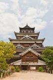 Belangrijkst houd van het Kasteel van Hiroshima, Japan Nationale Historische Plaats royalty-vrije stock afbeelding