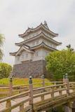 Belangrijkst houd van Oshi-kasteel in Gyoda-stad, Japan stock foto's