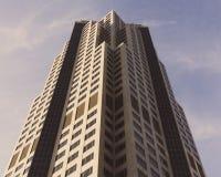 Belangrijkste Building Located bij 801 Grote Weg in Des Moines, Iowa van onderaan stock foto