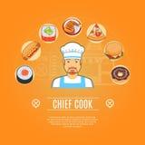 Belangrijkste Cook Concept Icons Royalty-vrije Stock Foto