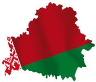 Belarus. Vector illustration of a map and flag from Belarus Stock Photo