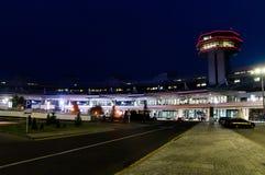 belarus Aéroport national Minsk Vue sur le terminal et le contrôle t Image libre de droits