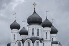 Belarus, Baranovichi: Orthodox cathedral of St. Alexander Nevsky (fragment). Stock Images