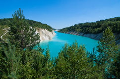 Belarus. Blue water. Blue water in the afternoon in Belarus Royalty Free Stock Photography