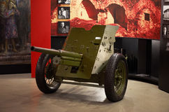 Belarus. Brest Fortress. Exhibit of the Museum of Defense of the Brest Fortress-Hero. The cannon of the Second World War. M Stock Photo