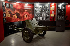 Belarus. Brest Fortress. Exhibit of the Museum of Defense of the Brest Fortress-Hero. The cannon of the Second World War. M Stock Image