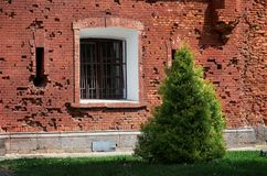 Belarus. The house was damaged by shooting in the Brest Fortress. May 23, 2017 Royalty Free Stock Images