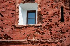 Belarus. The house was damaged by shooting in the Brest Fortress. May 23, 2017 Royalty Free Stock Photo