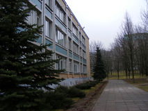 Belarus. Building school. Belarus. Minsk. Building school 159 Royalty Free Stock Images