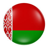 Belarus button. 3d rendering of  Belarus flag on a button Royalty Free Stock Images