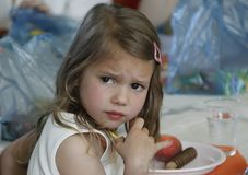 Dissatisfied child stock photos
