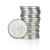 Belarus coin stack Stock Photos