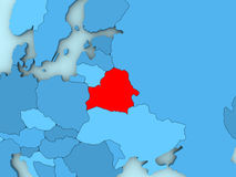 Belarus on 3D map Royalty Free Stock Image