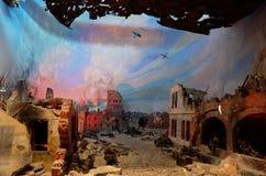 belarus Der Haupteingang zum Krieg-Denkmal Ausstellungen von den Zeiten des zweiten Weltkriegs des Verteidigungs-Museums vom Bres Lizenzfreie Stockfotos