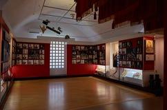 belarus Der Haupteingang zum Krieg-Denkmal Ausstellungen von den Zeiten des zweiten Weltkriegs des Verteidigungs-Museums vom Bres Lizenzfreie Stockfotografie
