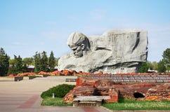 belarus Der Haupteingang zum Krieg-Denkmal Monument ` Mut ` in der Brest-Festung 23. Mai 2017 Lizenzfreie Stockfotografie