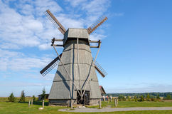 Belarus, Dudutki. Windmill Royalty Free Stock Photos