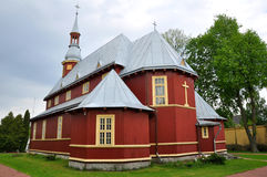 Belarus. Elevation of the Cross Church in Baranovichi. Built in 1924 Royalty Free Stock Image