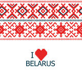 Belarus embroidered background Royalty Free Stock Images