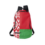 Belarus flag backpack isolated on white Royalty Free Stock Photography