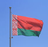 Belarus flag on blue sky Royalty Free Stock Images