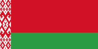 Belarus flag, flat layout, vector illustration Stock Photography