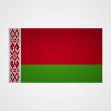 Belarus flag on a gray background. Vector illustration Stock Photos
