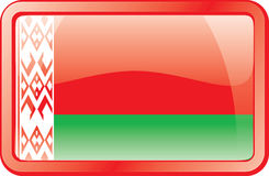 Belarus Flag Icon Stock Photography