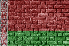 Belarus Flag Painted on brick wall nice Royalty Free Stock Photos