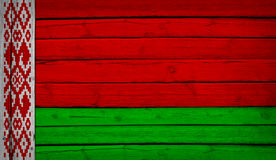 Belarus flag painted on wooden boards Stock Photo