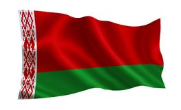 Belarus flag,  A series of  `Flags of the world.`  The country - Belarus. Belarus flag,  A series of `Flags of the world.`  The country - Belarus Stock Photos