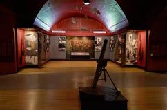 belarus Fortaleza de Bresta Exibição do museu da defesa do Fortaleza-herói de Bresta Armas da segunda guerra mundial possa Imagens de Stock
