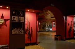 belarus Fortaleza de Bresta Exibição do museu da defesa do Fortaleza-herói de Bresta Armas da segunda guerra mundial possa Foto de Stock Royalty Free