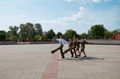 belarus Fortaleza de Bresta Sentinela da memória na chama eterno da fortaleza de Bresta 23 de maio de 2017 Foto de Stock Royalty Free