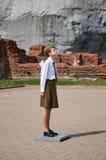 belarus Fortaleza de Bresta Sentinela da memória na chama eterno da fortaleza de Bresta 23 de maio de 2017 Imagens de Stock