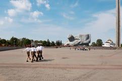 belarus Fortezza di Brest L'entrata principale al memoriale di guerra ` Di coraggio del ` del monumento nella fortezza di Brest 2 Fotografia Stock Libera da Diritti