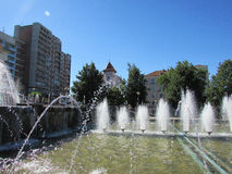 Belarus. Fountains in the Belarusian city of Mahileu Stock Photography