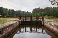 Belarus. Gateway on the Augustow canal in Belarus. May 24, 2017 Royalty Free Stock Photos