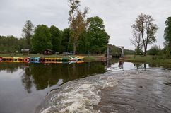 Belarus. Gateway on the Augustow canal in Belarus. May 24, 2017 Stock Images