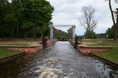 Belarus. Gateway on the Augustow canal in Belarus. May 24, 2017 Stock Image