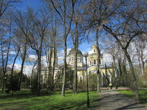 Belarus, Gomel. The Cathedral in the Park of princes Rumyantsev-Paskevich Royalty Free Stock Photography